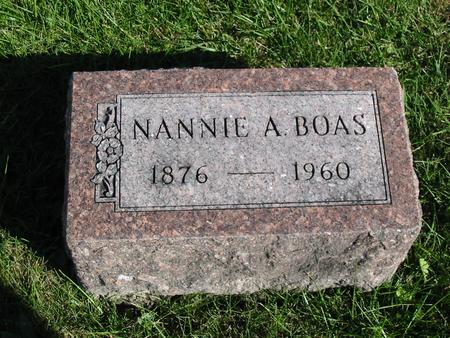 BOAS, NANNIE A. - Davis County, Iowa | NANNIE A. BOAS