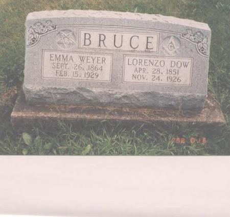 BRUCE, LORENZO AND EMMA WEYER - Davis County, Iowa   LORENZO AND EMMA WEYER BRUCE