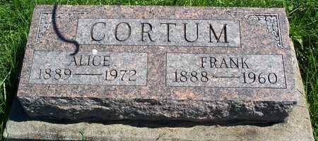 CORTUM, ALICE - Davis County, Iowa | ALICE CORTUM