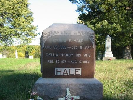 HEADY HALE, DRUZILLA BELLE - Davis County, Iowa | DRUZILLA BELLE HEADY HALE
