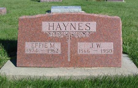 HAYNES, EFFIE MARIAH - Davis County, Iowa | EFFIE MARIAH HAYNES