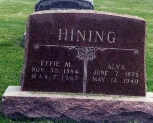 HINING, EFFIE - Davis County, Iowa | EFFIE HINING