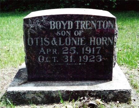 HORN, BOYD TRENTON - Davis County, Iowa | BOYD TRENTON HORN