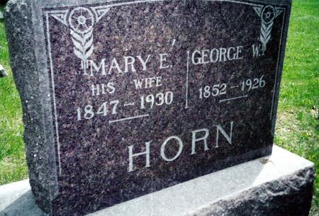 HORN, GEORGE W. AND MARY E. - Davis County, Iowa | GEORGE W. AND MARY E. HORN