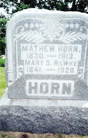 HORN, MATHEW AND MARY S. - Davis County, Iowa | MATHEW AND MARY S. HORN