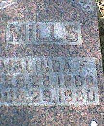 MILLS, MALINDA F - Davis County, Iowa | MALINDA F MILLS
