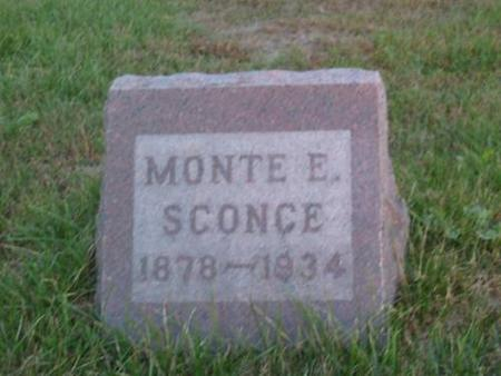 SCONCE, MONTE E. - Davis County, Iowa | MONTE E. SCONCE