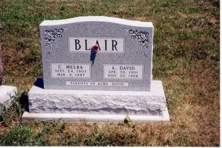 BLAIR, A. DAVID AND C. MELBA - Decatur County, Iowa | A. DAVID AND C. MELBA BLAIR