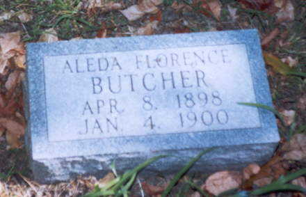 BUTCHER, ALEDA FLORENCE - Decatur County, Iowa | ALEDA FLORENCE BUTCHER