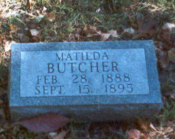 BUTCHER, MATILDA - Decatur County, Iowa | MATILDA BUTCHER