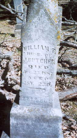 BUTCHER, WILLIAM F. - Decatur County, Iowa | WILLIAM F. BUTCHER