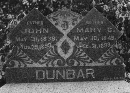 DUNBAR, JOHN AND MARY C - Decatur County, Iowa | JOHN AND MARY C DUNBAR