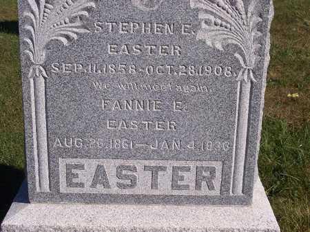 EASTER, FANNIE E - Decatur County, Iowa | FANNIE E EASTER
