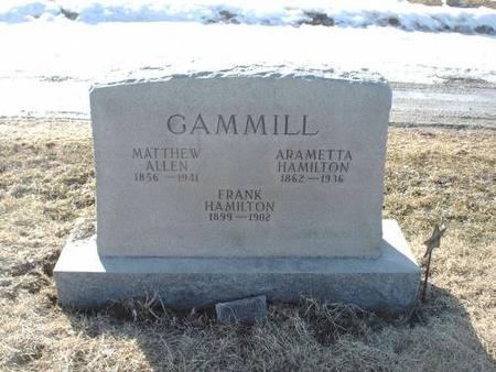 GAMMILL, FRANK HAMILTON - Decatur County, Iowa | FRANK HAMILTON GAMMILL