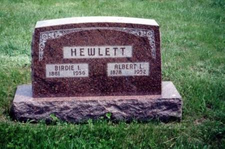 HEWLETT, BIRDIE I. AND ALBERT L. - Decatur County, Iowa | BIRDIE I. AND ALBERT L. HEWLETT