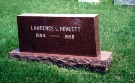 HEWLETT, LAWRENCE L. - Decatur County, Iowa | LAWRENCE L. HEWLETT
