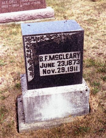 MCCLEARY, B. F. - Decatur County, Iowa | B. F. MCCLEARY