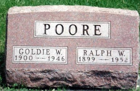 POORE, GOLDIE W. AND RALPH W. - Decatur County, Iowa | GOLDIE W. AND RALPH W. POORE