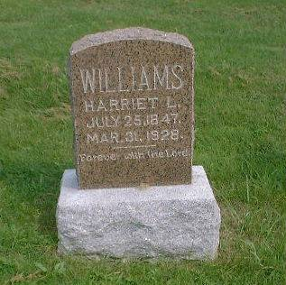 WILLIAMS, HARRIET L. (RAMSEY) - Decatur County, Iowa | HARRIET L. (RAMSEY) WILLIAMS