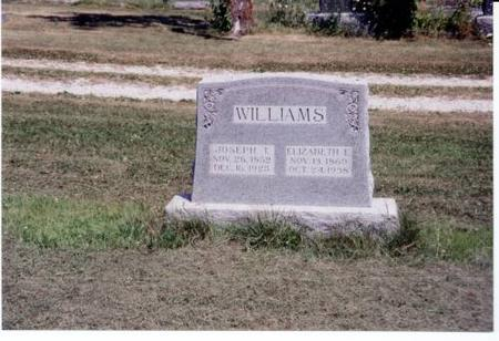 WILLIAMS, JOSEPH T. AND ELIZABETH E. - Decatur County, Iowa | JOSEPH T. AND ELIZABETH E. WILLIAMS