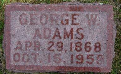 ADAMS, GEORGE W. - Delaware County, Iowa | GEORGE W. ADAMS