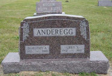BOND ANDEREGG, DOROTHY A. - Delaware County, Iowa | DOROTHY A. BOND ANDEREGG