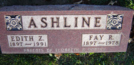 ADAMS ASHLINE, EDITH Z. - Delaware County, Iowa | EDITH Z. ADAMS ASHLINE