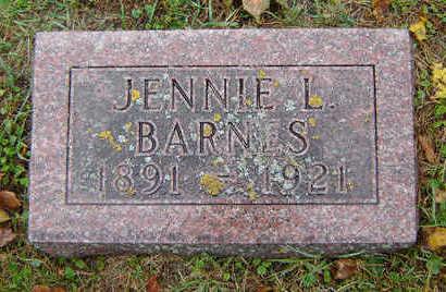 BARNES, JENNIE L. - Delaware County, Iowa | JENNIE L. BARNES