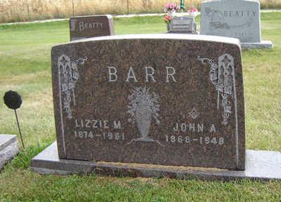 BARR, LIZZIE M. - Delaware County, Iowa | LIZZIE M. BARR