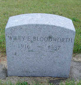 BLOODWORTH, WILEY E. - Delaware County, Iowa | WILEY E. BLOODWORTH
