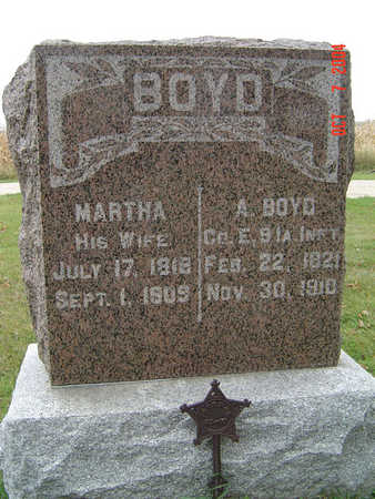 BOYD, MARTHA - Delaware County, Iowa | MARTHA BOYD