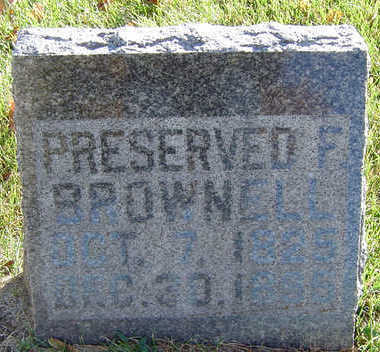 BROWNELL, PRESERVED F. - Delaware County, Iowa | PRESERVED F. BROWNELL