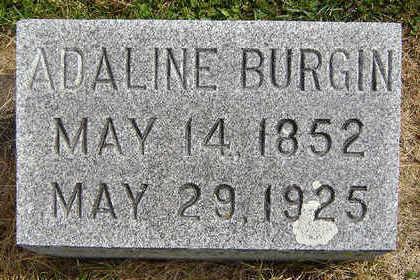 RHINES BURGIN, ADALINE - Delaware County, Iowa | ADALINE RHINES BURGIN