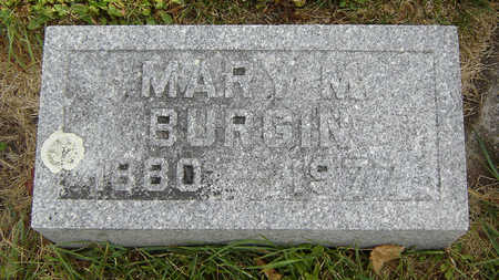 BURGIN, MARY M. - Delaware County, Iowa | MARY M. BURGIN