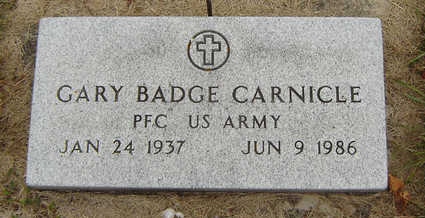 CARNICLE, GARY BADGE - Delaware County, Iowa   GARY BADGE CARNICLE
