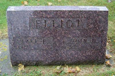 SHERMAN ELLIOT, FAYE ELIZABETH - Delaware County, Iowa | FAYE ELIZABETH SHERMAN ELLIOT