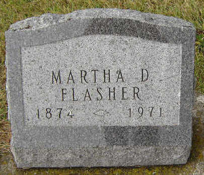 FLASHER, MARTHA - Delaware County, Iowa | MARTHA FLASHER