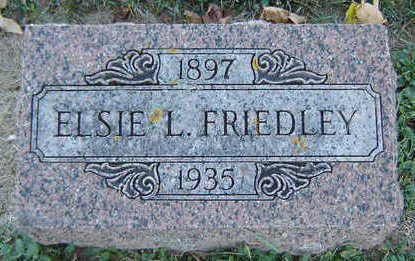 FRIEDLEY, ELSIE L. - Delaware County, Iowa | ELSIE L. FRIEDLEY