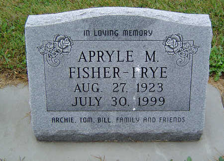 FISHER FRYE, APRYLE M. - Delaware County, Iowa | APRYLE M. FISHER FRYE