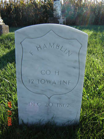 HAMBLIN, F. - Delaware County, Iowa | F. HAMBLIN