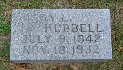 GILBERT HUBBELL, MARY L. - Delaware County, Iowa | MARY L. GILBERT HUBBELL