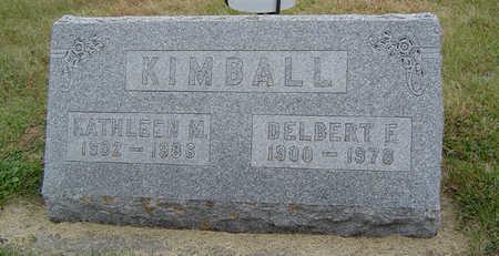 KIMBALL, DELBERT F. - Delaware County, Iowa | DELBERT F. KIMBALL