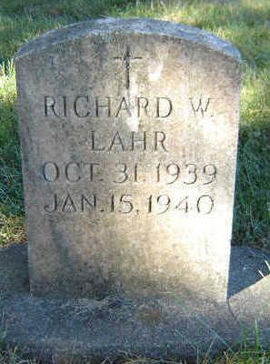 LAHR, RICHARD W. - Delaware County, Iowa | RICHARD W. LAHR