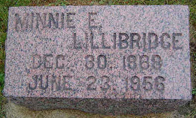 FAUST LILLIBRIDGE, MINNIE ETTA - Delaware County, Iowa | MINNIE ETTA FAUST LILLIBRIDGE