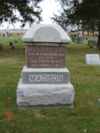 MADISON, SARAH M. - Delaware County, Iowa | SARAH M. MADISON