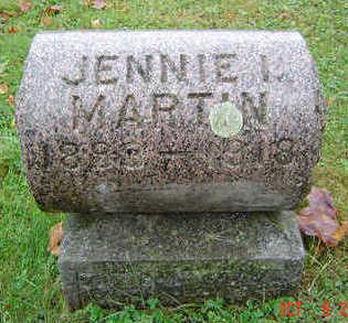 HINES MARTIN, JENNIE I. - Delaware County, Iowa | JENNIE I. HINES MARTIN