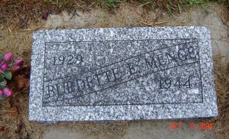 MENGE, BURDETTE E. - Delaware County, Iowa | BURDETTE E. MENGE