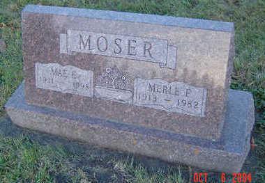 TOTMAN MOSER, MAE ETHEL - Delaware County, Iowa | MAE ETHEL TOTMAN MOSER