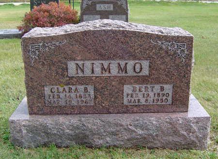 COMBS NIMMO, CLARA BERTHA - Delaware County, Iowa | CLARA BERTHA COMBS NIMMO
