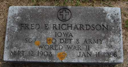 RICHARDSON, FRED E. - Delaware County, Iowa | FRED E. RICHARDSON